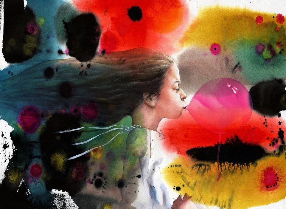 Watercolor, Portrait Watercolor, Art, Portrait Portrait