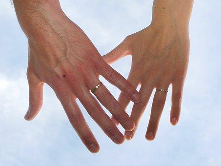 結婚式, 提携, 空, 組合, 恋愛中です, 愛, 幸福, コミットメント