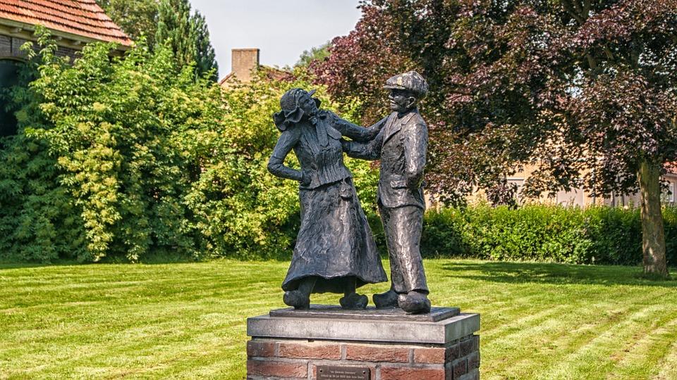 Awesome Giethoorn, Statue, Garden, Brass, Image, Art, Bronze
