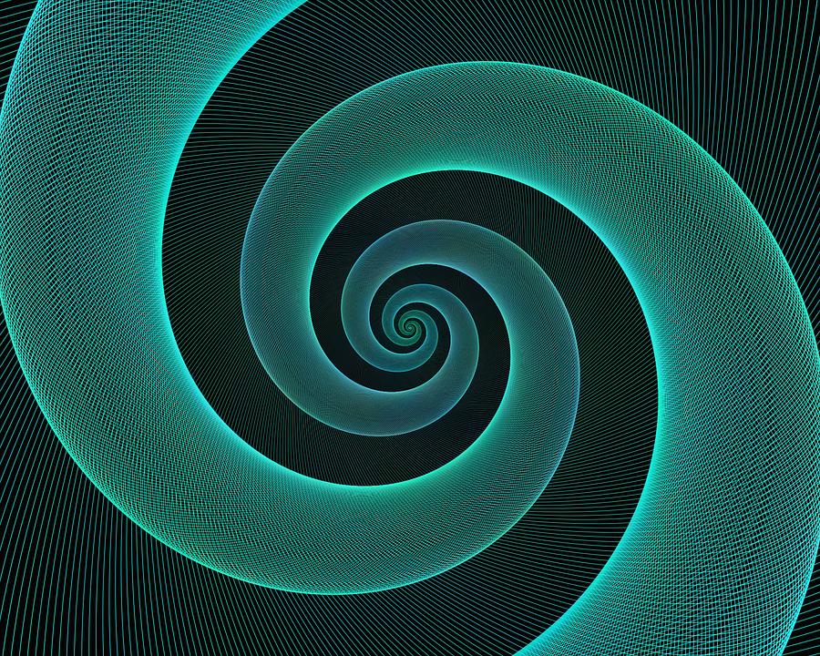 Blue Spirals Wallpapers: Spiral Fraktal Tapet · Gratis Vektorgrafik På Pixabay
