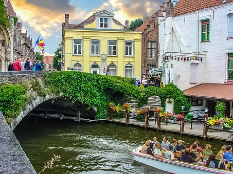 Belgium, Bruges, Canal, Bridge, City