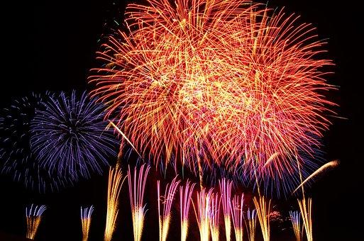 Rocket, Moerenuma, Fireworks