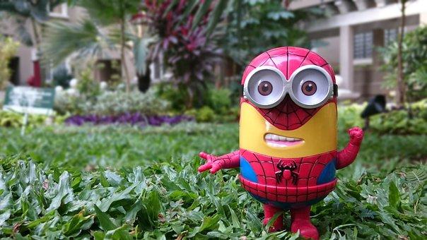 ミニオン, スパイダーマン, おもちゃ, 卑劣な私, ピーター-パーカー
