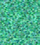 teal, green, triangle