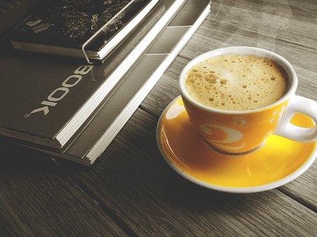 Coffe, Cup, Notebook, Break, Office