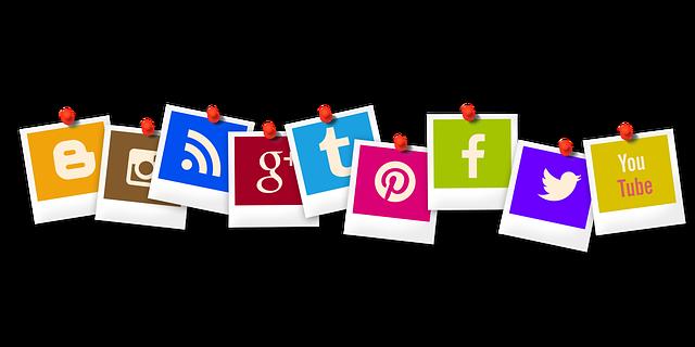 アイコンを, ポラロイド, ブロガー, Rss, アプリケーション, あなたチューブ, Pinterestは