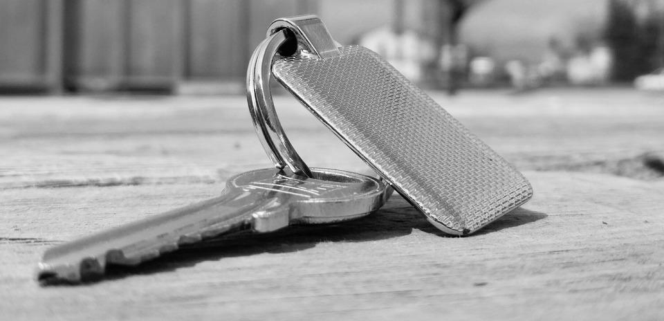 Key, Ключ, Брелок, Металл, Серый, Блестящие, Бесцветный