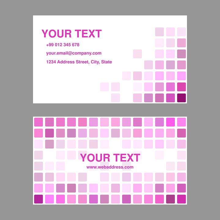 Magenta pink business free vector graphic on pixabay magenta pink business card design template colourmoves
