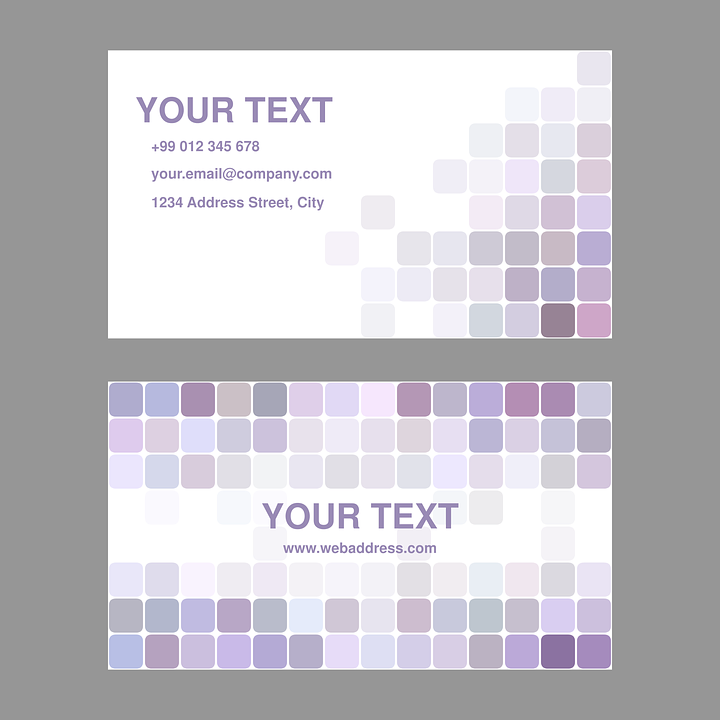 Free vector graphic: Purple, Light, Business, Card - Free Image on ...