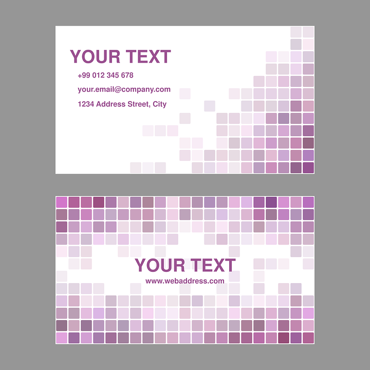 free vector graphic purple business card design free image