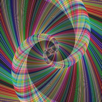 Colorido, Espiral, Remolino, Fractal