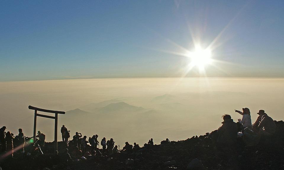 Mt Fuji, The Sunrise, Mountain, Mt, Fuji, Japan