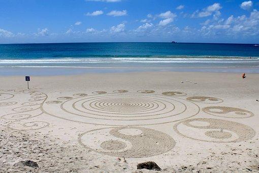 Strand, Hippy, Kunst, Australien