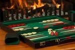 backgammon, board game, fireside