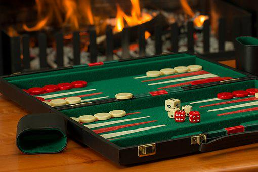 Backgammon, Board Game, Fireside