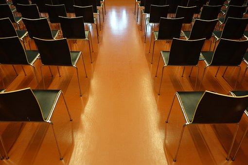 Hörsaal, Stühle, Publikum, Universität