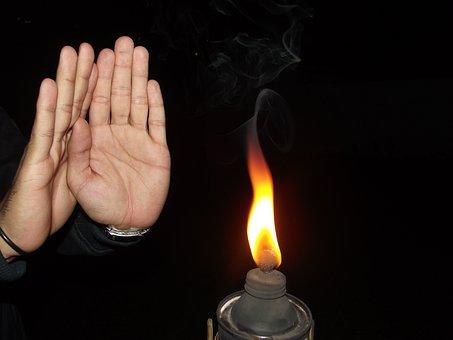 Fuego, Mecha, Llama, Luz, Iluminado