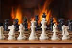 chess, board game, fireside