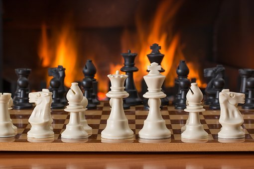 Chess, Board Game, Fireside, Strategy