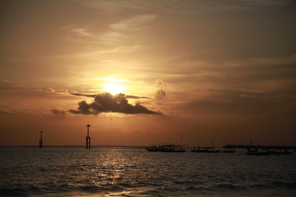 Bali, Coucher De Soleil, Jimbaran