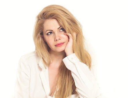 Große Gesichts blonde Milf