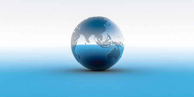 地球, 世界, 惑星, 地球儀, 球, 地図, 大陸, 海, 3 D, ボール