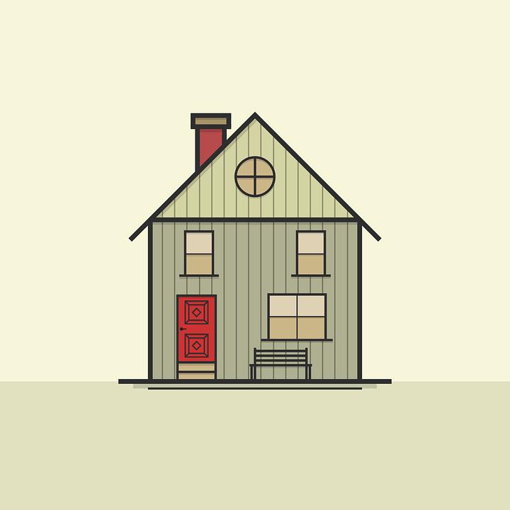 Къща, Икона, Символ, Архитектура, Покрив, Прозорец