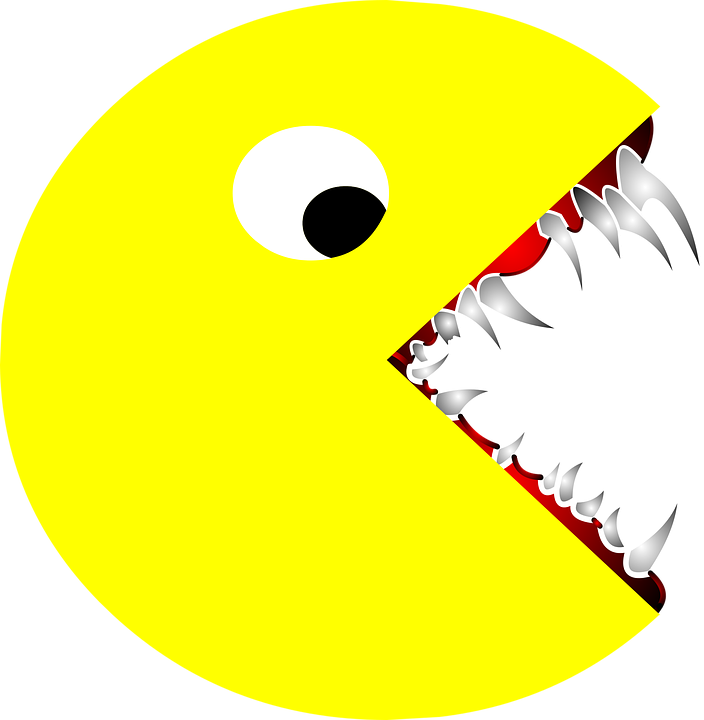 scary pacman pac man free vector graphic on pixabay