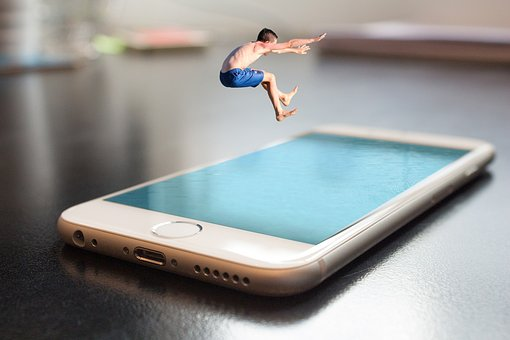 Smartphone, Iphone, Apple, Salto, Verano