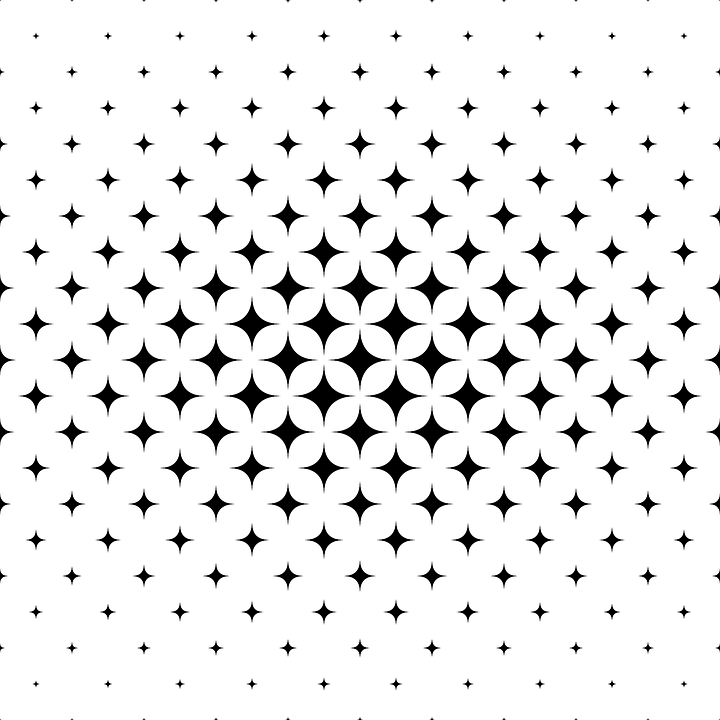 Star Pattern Vector Shape Grid Seamless