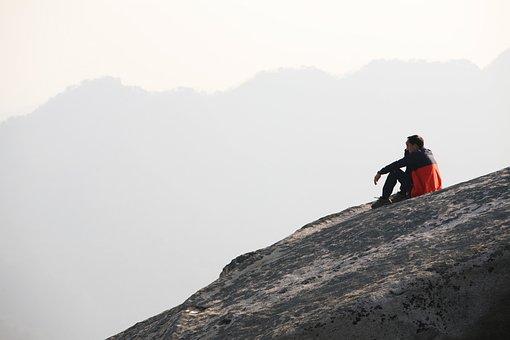 북한산, 白新, ソウル, 山, 登山, 岩山, 安全, 通常の, 苦脳, 思考