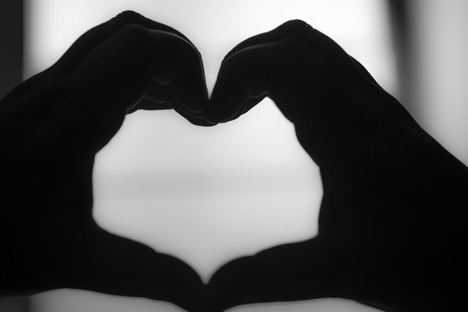 Heart Black And White Hand Hands Form