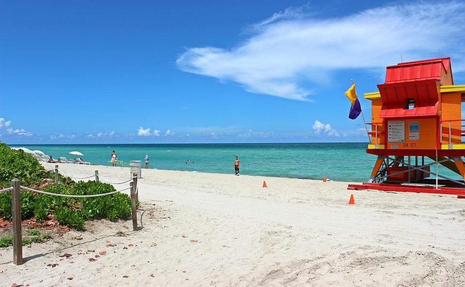 Miami Beach Florida Sand Ocean