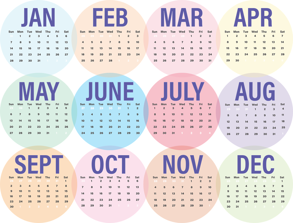 Year Calendar Graphic : Calendar business · free vector graphic on pixabay