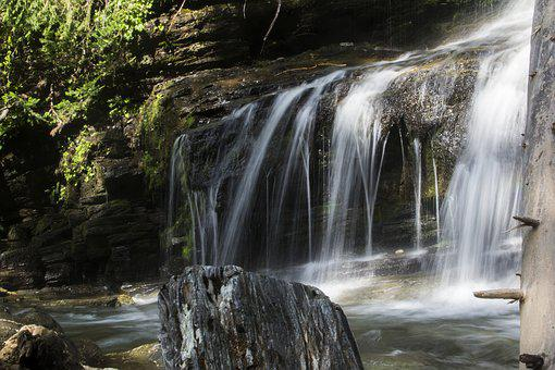 Waterfall, Water, Fall, Flow, Smooth
