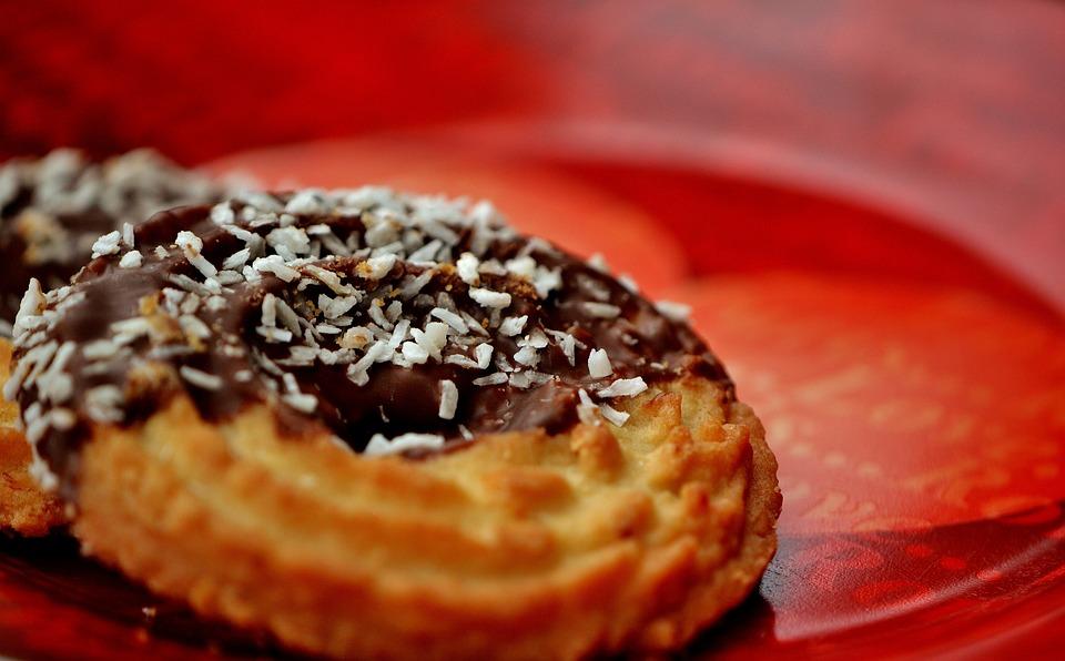 Cookie, Kringel, Noce Di Cocco, Cioccolato, Delizioso