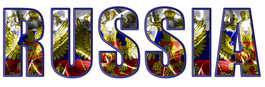 Russia, Flag, Crest, Embossed