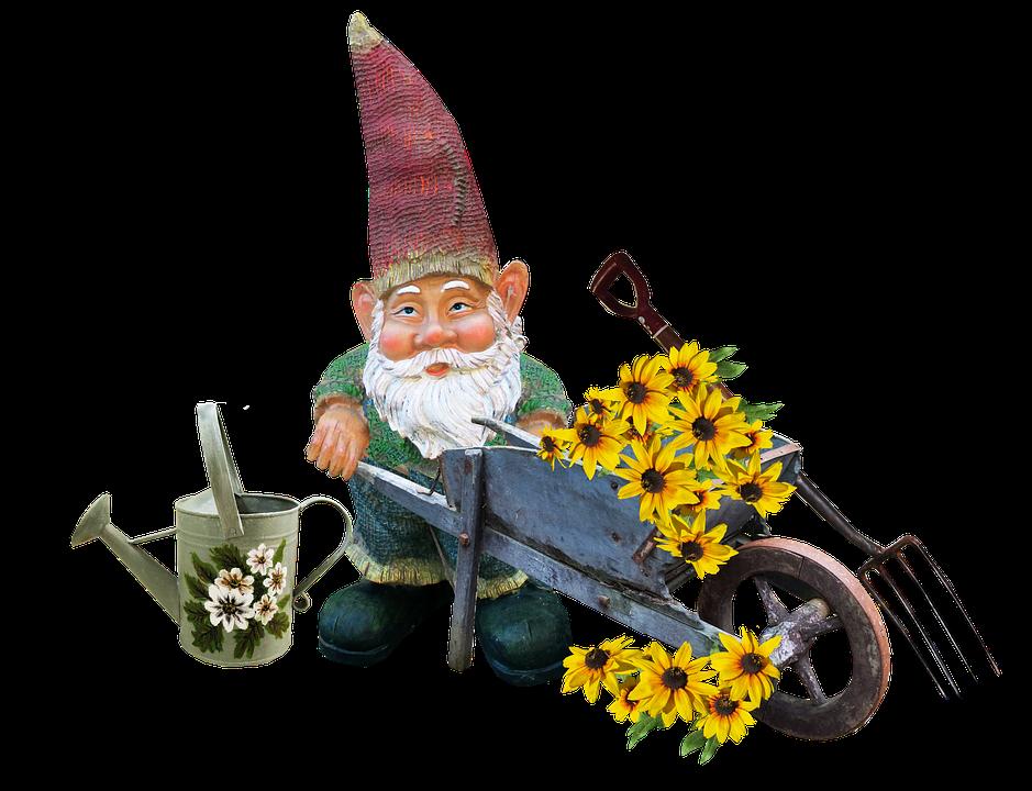 Gnome, Arbeiten, Garten