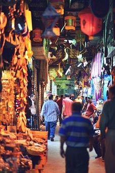 Bazaar, Cairo, Egypt, Egyptian, Market