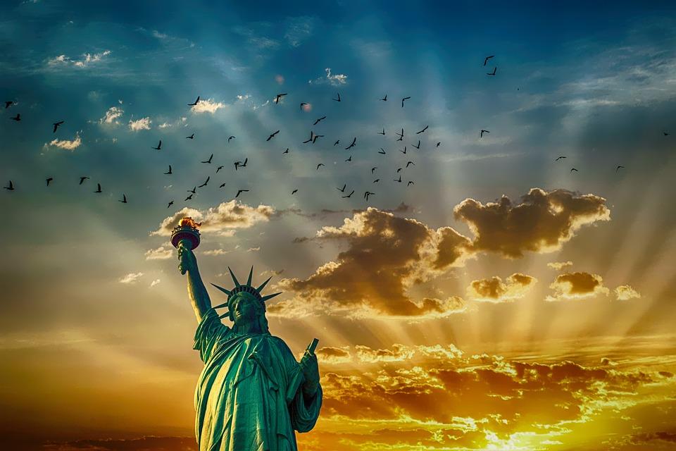 自由の女神, 記念碑, ランドマーク, アメリカ, アメリカ合衆国, 自由, アーキテクチャ, 独立