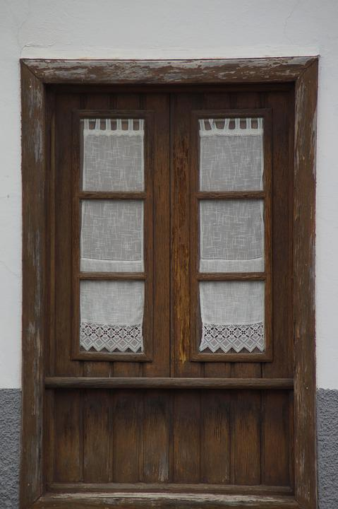 venster gordijnen oude historisch gevel gordijn