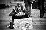 man, begging