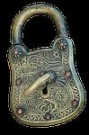 padlock, castle, old