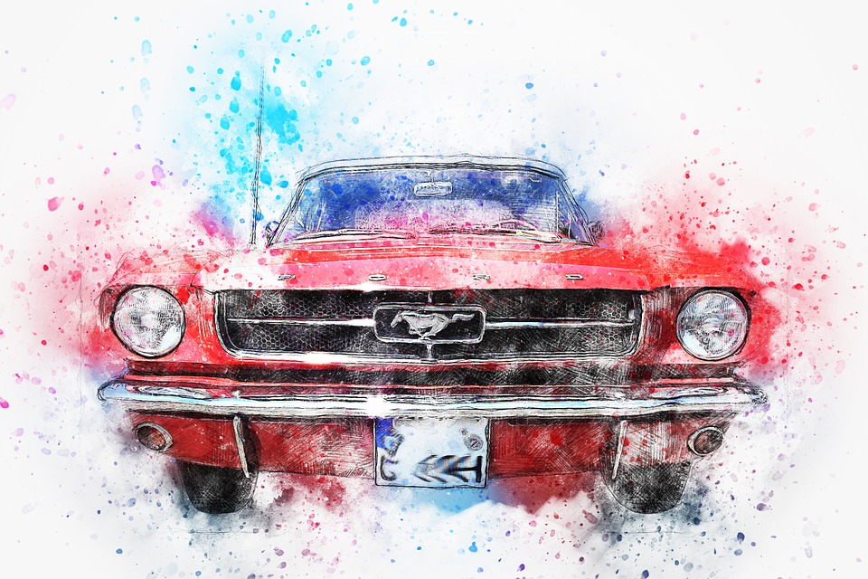 Excellent vintage ford mustang art are not
