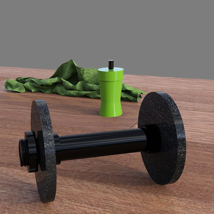 Dumbbell, Bottle, Towel, Sport, Training, Force