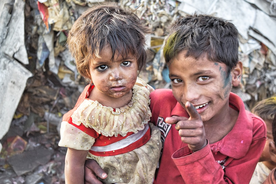 India, Slums, Poor, Brother, Sister, Asia, Outdoor