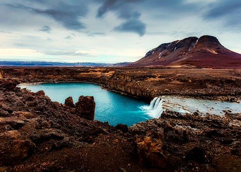 Iceland, Mountains, Lake, Country