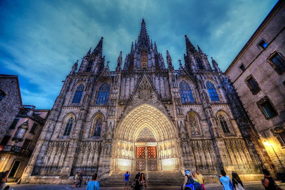 Spanien, Barcelona, Architektur, Kunst, Dom, Gothic