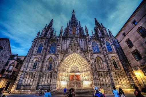 Spain, Barcelona, Architecture, Art