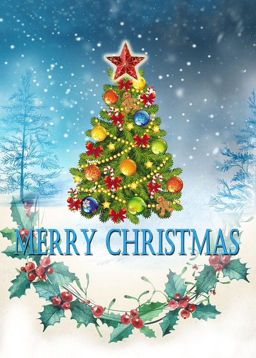 Merry Christmas Card Happy Free image on Pixabay